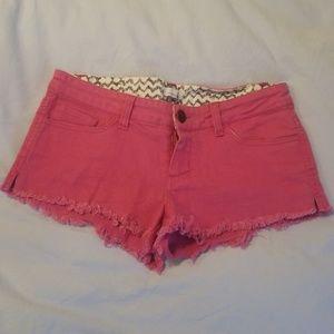 Jean shorts pink